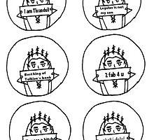 Set of 6 Thranduil drawings by kryzanty