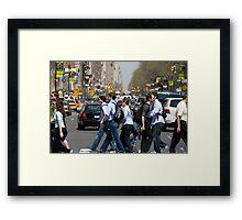 Crossing Central Park West Framed Print