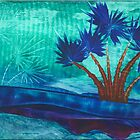 blue palms by angiejones