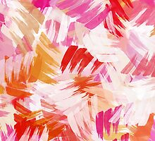 Abstract Paint Pattern by Christina Rollo