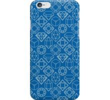 Diamond Gem Shape Outline BLUE iPhone Case/Skin