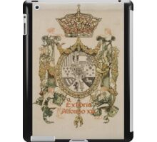 'Book Plate of Alphons XIII' by Alexandre de Riquer (Reproduction) iPad Case/Skin