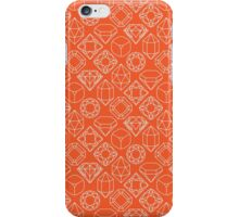 Diamond Gem Shape Outline ORANGE iPhone Case/Skin