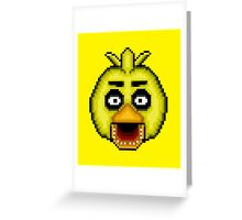 Five Nights at Freddy's 1 - Pixel art - Chica Greeting Card