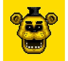 Five Nights at Freddy's 1 - Pixel art - Golden Freddy Photographic Print