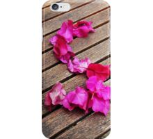 Letter S of  petals iPhone Case/Skin