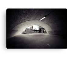 passenger tunnel arc bw Canvas Print