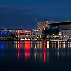 Melbourne Docklands Harbour and Etihad Stadium by PhotoJoJo