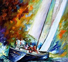 Sailing The Waves — Buy Now Link - www.etsy.com/listing/220012486 by Leonid  Afremov