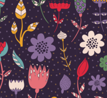Colorful Abstract Floral Pattern Sticker