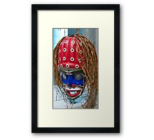 Mask In Polka Dot Framed Print