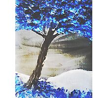 Bright Blue Photographic Print