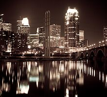 Minneapolis At Night by ELBfoto