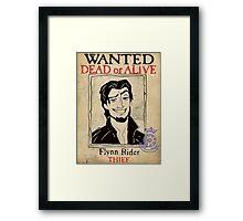 Flynn Rider: Wanted Poster Framed Print
