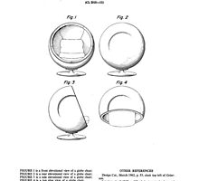 Eero Aarnio - Ball Chair - Patent Artwork by fascinatingly