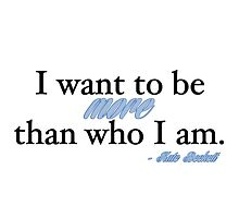 I want to be more than who I am. - Kate Beckett by cristinaandmer