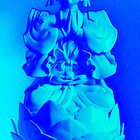 Electric Blue / Turquoise Buddha by wanda1505