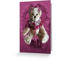 RIBBONS,BOWS AND LACE,CUTE BEAR PICTURE AND OR CARD.. Greeting Card