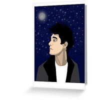 Moonlight Thought Greeting Card