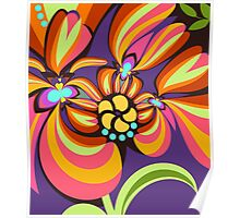 Colourful floral fantasy Poster