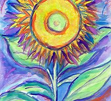 Flagler Beach Sunflower by Roz Abellera Art