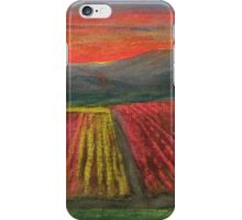 Tulip Fields at Sunset iPhone Case/Skin