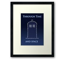 Through Time and Space Framed Print