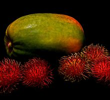 Papaya and Rambutan by jerry  alcantara