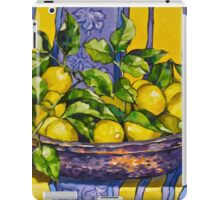 'Provence lemons in a copper bowl' 2012Ⓒ Oil on canvas. iPad Case/Skin