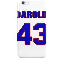National baseball player Darold Knowles jersey 43 iPhone Case/Skin