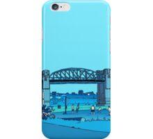 Burrard Bridge - blue iPhone Case/Skin