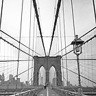 Brooklyn Bridge over East River. New York City. by Alan Copson
