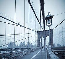 Brooklyn Bridge over East River. New York City. by Alan Copson