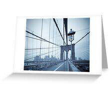 Brooklyn Bridge over East River. New York City. Greeting Card