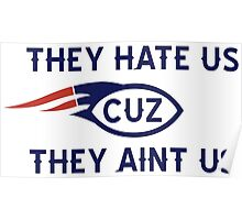 They hate us cuz they aint us BOSTON Poster