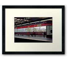 Subway (Train) Station in Sao Paulo, Brazil - 1982  Framed Print