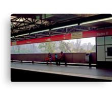 Subway (Train) Station in Sao Paulo, Brazil - 1982  Canvas Print