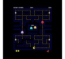 Original PacMan - Video Game Gamer Vintage Retro Black Arcade  Photographic Print