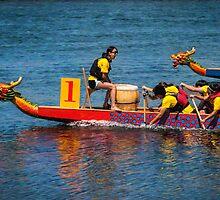 Dragon boat race by Celeste Mookherjee