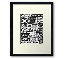 Bands Collage Framed Print