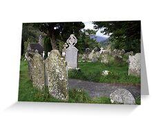 Glendalough cemetery view 1 Greeting Card