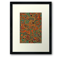Doodle Hearts by an official DA Member. (Doodlers Anonymous) Framed Print