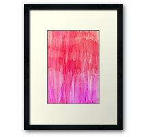Hot Pink, Melon & Magenta Watercolor Abstract Framed Print