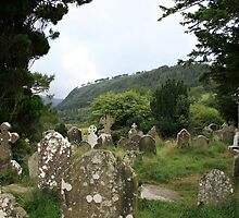 Glendalough old cemetery by John Quinn