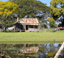Rustic Shack Reflection, Pacific Highway, Australia 2011 Sticker