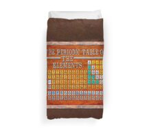 Victorian Style Periodic Table Of The Elements Duvet Cover