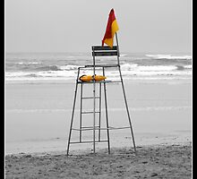 Life savers chair on Gonubie beach by Andy Chadwick