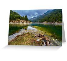 Galbenu lake in Romania Greeting Card