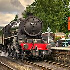 Black Five at Grosmont  by Rob Hawkins
