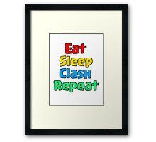 Clash of Clans - Eat sleep Clash Repeat Framed Print